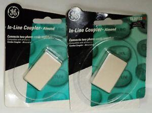 2 Ge En Ligne Coupleur Connecte Deux Téléphone Cordons Ensemble Amande Tl26103 Facile à RéParer