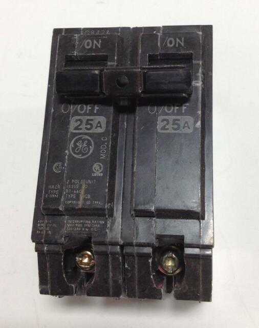 GE 2-POLE 20A CIRCUIT BREAKER E-11592 RT-660