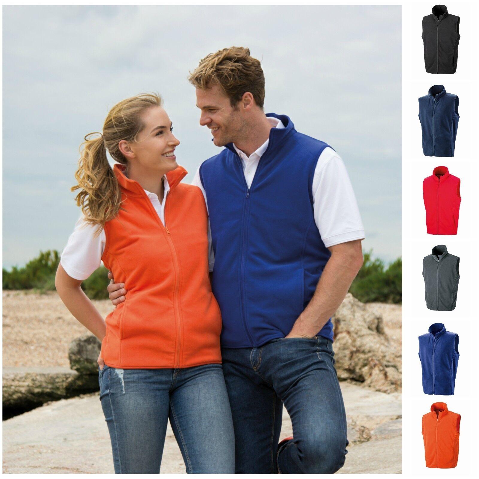 Mens Womens Bodywarmer Gilet Body Warmer Fleece Sleeveless Jacket Coat S?3XL