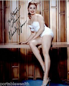 SHIRLEY-JONES-Hand-Signed-Photo-8-x-10-Color-Authentic-Autograph-to-Steve