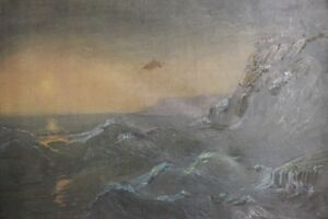 Vintage-oil-painting-seascape-landscape-sea-storm