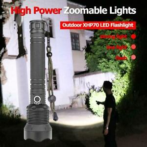 200000-Lumens-Zoomable-XHP70-LED-USB-Rechargeable-Flashlight-Torch-Outdoor-Lamp