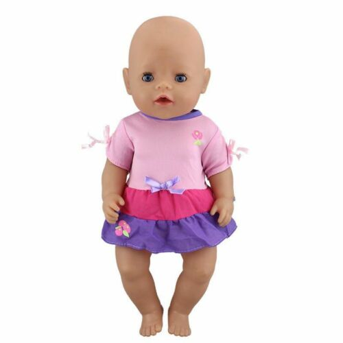 Doll Dress Fashion Babies Reborn Unisex Doll Clothes Accessories Fit For 43cm