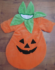 Just Pretend Pumpkin costume baby size 0 6 months, zip up back warm costume