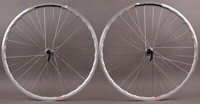 Velocity A23 Silver Rims Shimano 105 7000 32h Hubs Wheelset Road or CX Wheels