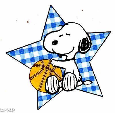 """4/"""" Baby snoopy sports basketball little champ prepasted wall border cut out"""