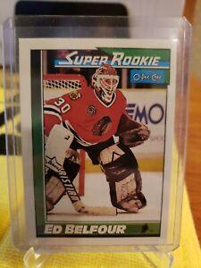 ED-BELFOUR-1991-O-PEE-CHEE-SUPER-ROOKIE-CARD-4-MINT-BLACKHAWKS