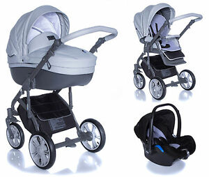 BABY PRAM PUSHCHAIR STROLLER ROAN BASS SOFT DOVE GREY BUGGY TRAVEL 2IN1 3IN1