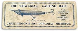 Dowagiac-Casting-Bait-Box-Retro-Lure-Fish-Bait-Tackle-Fishing-Marina-Metal-Sign
