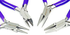4 Piece Mini Pliers Set Round Flat Chain Nose and Side Cutting Plier Craft