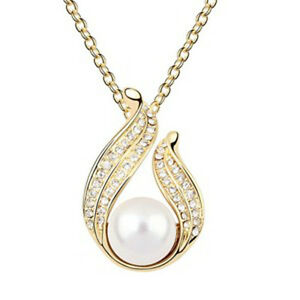 GORGEOUS-18K-ROSE-GOLD-PLATED-AND-GENUINE-CUBIC-ZIRCONIA-AND-PEARL-NECKLACE