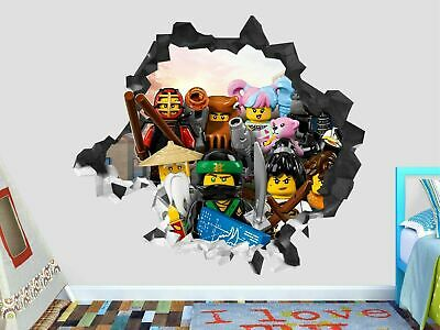 Lego Ninjago Adventure Group Custom Wall Decals 3D Wall Stickers Art GS146