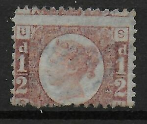 SG48-1870-1-2d-Rose-Red-Plate-13-Unused-No-Gum-Ref-03104