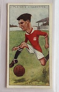 Len-Davies-Cardiff-City-Footballers-Caricatures-1926-John-Player-Swap-Card-B5