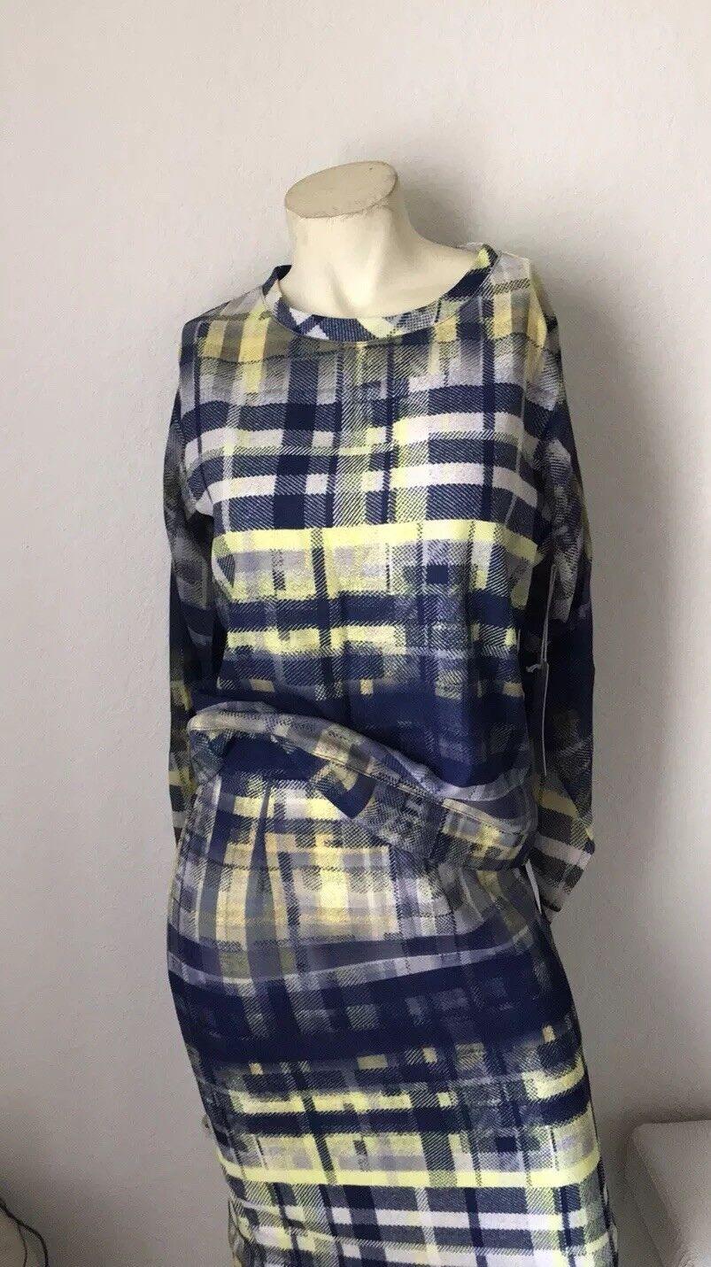 NWT Anthropologie Sam & Lavi Bright Multicolor Blouse Pencil Skirt Set Size M