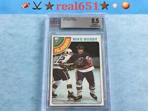 1978-Topps-115-MIKE-BOSSY-Rookie-BVG-8-5-NM-MT-New-York-Islanders-HOF-RC