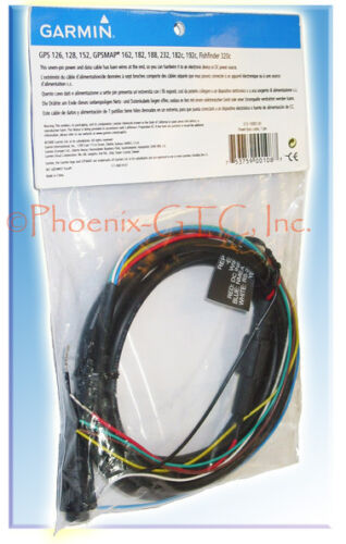 GARMIN OEM GPSMAP 205 210 215 220 225 230 232 235 POWER//DATA CABLE BARE WIRES