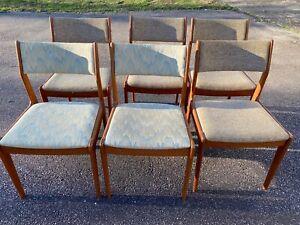 6-Teak-Danish-Chairs-Mid-Century-Modern-Scandinavian-Woodworks-Singapore