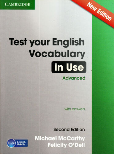 1 of 1 - Cambridge TEST YOUR ENGLISH VOCABULARY IN USE ADVANCED New 2nd Ed w Answers @NEW