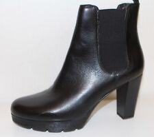 Damen Chelsea Boots Ketten Stiefeletten Leder-Optik Ankle Booties 831998 Schuhe