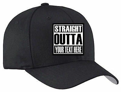 Straight Outta Custom Flexfit Hat - Straight Outta Compton Hat NWA Fast Shipping