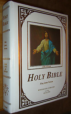 Holy Bible King James Version KJV Sympathy UFCW LOCAL 881 Illustrated Red Letter