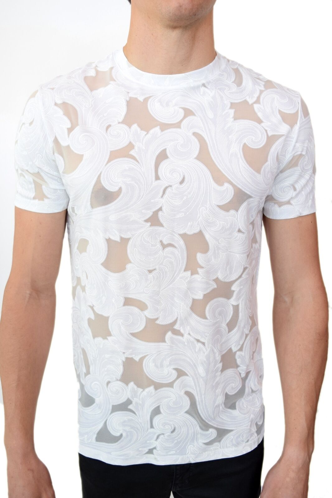 Versace Collection Sheer Baroque T-Shirt