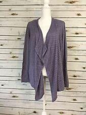 CHICOS Sweater Cascading Lilac Long Sleeve Open Front Cardigan Size 3 (XL) G5