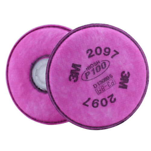 100packs=200 pcs 3M 2097 particulate filter P100 for 3M 6200//6800//7502 Respirato
