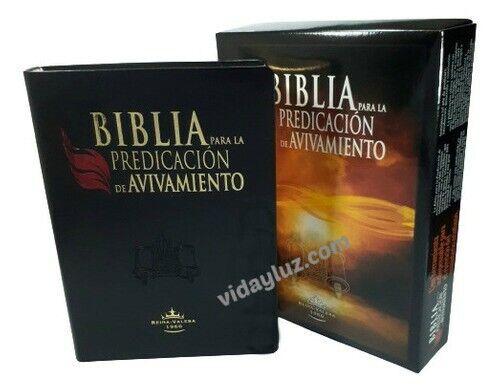 BIBLIA ESTUDIO REINA VALERA 1960, PARA LA PREDICACION DE AVIVAMIENTO e INDEX