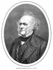 Sir Charles Lyell avvocato britannico & geologo-antico print 1875