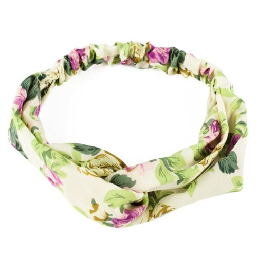 Flower Print Headband with Elasticated Back