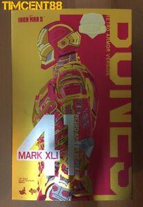 Hot Toys MMS412 Iron man 3 Mark XLI 41 Bones Retro Armor Ver Exclusive Sealed