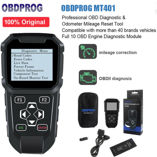 Mt401 Car OBDII Read & Clear Fault Code Reset Adjustment DIGANOSTIC Scanner  Tool