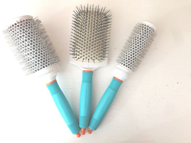 MOROCCANOIL CERAMIC IONIC THERMAL HAIR BRUSH. ROUND, PADDLE & SET CHOICE.