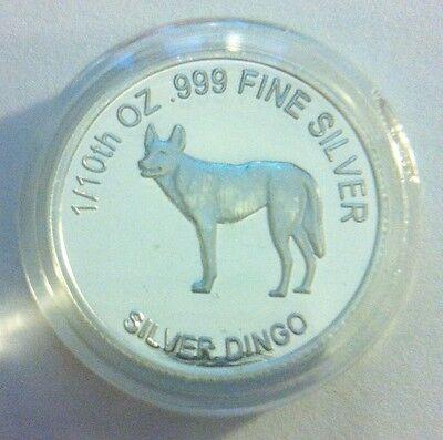 "1/10th Oz 99.9% Pure Silver Bullion Coin, ""Dingo"" (Aust Series) 14 to Coll"