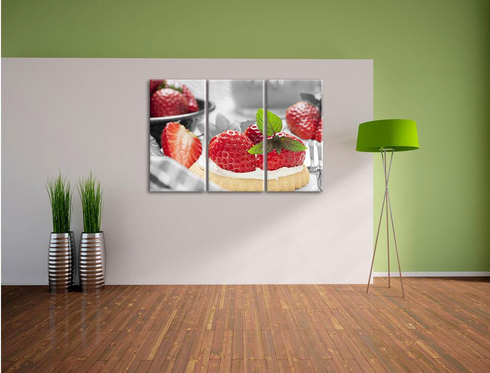 Delizioso come questo torta di fragole 3-Divisorio 3-Divisorio 3-Divisorio Tela Decorazione stampa d'arte 251b92