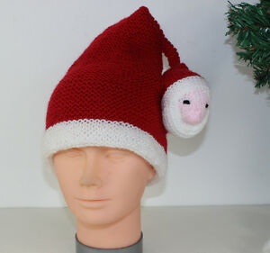 881215078d72d Image is loading PRINTED-INSTRUCTIONS-CHILDRENS-SANTA-HEAD-CHRISTMAS-HAT- KNITTING-