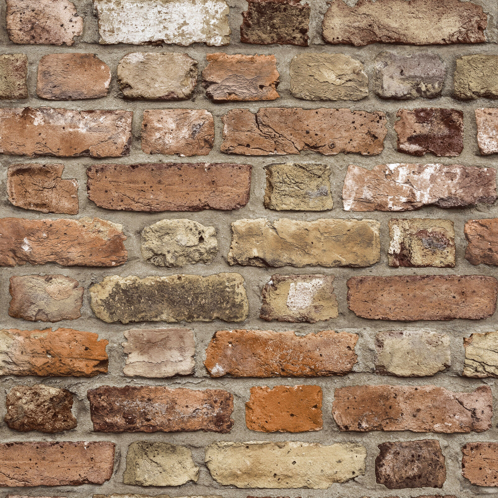 vlies tapete bruchstein mauer klinker ziegelstein terra beige braun fc2502 brick ebay. Black Bedroom Furniture Sets. Home Design Ideas