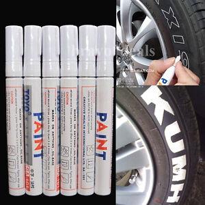 6-x-Reifenmarker-Reifenmarkierungsstift-Weiss-KFZ-Reifen-Stift-Reifenmarkierstift