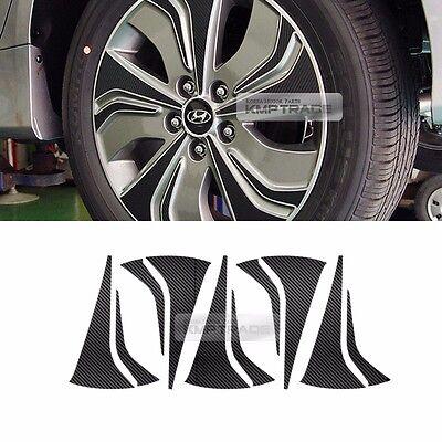 "Carbon Spoke Wheel Vinyl Decal Sticker 17/"" 40P for HYUNDAI 2011-14 Sonata YF i45"