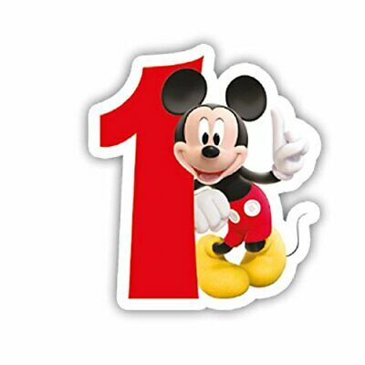 Disney Mickey Mouse Birthday Cake Number Candles First 1st ...
