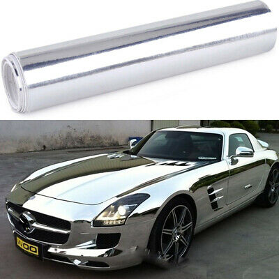 Dark Car Glossy Chrome Mirror Vinyl Wrap Film Roll Sheet Sticker  Blue152cmx30cm