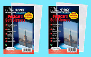 200-ULTRA-PRO-POSTCARD-SOFT-SLEEVES-2-Packs-Archival-Safe-Protective-Coin-Stamp