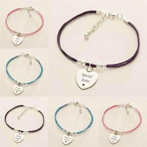 Details About Beautiful Personalised Bracelets For Women With Engraving Purple Pink Turquoise