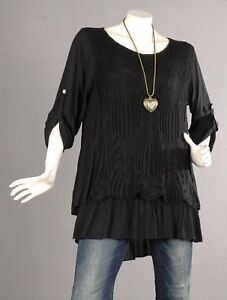 107 42 Bluse Kaschierwunder 40 A Tunika linie Top Pullover Trendy Spitze Shirt RfRqU