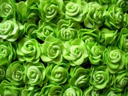 12 Rosen Foamrosen 2,5 cm Hochzeit f. Hochzeitsanstecker Tischdeko Streudeko