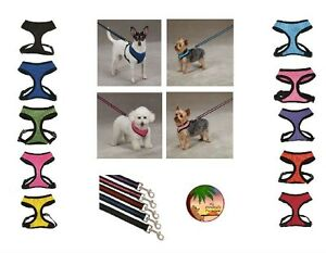 Anti-Pull-Breathable-Mesh-Harnesses-Sets-for-Dogs-NO-CHOKE-Soft-Dog-Harness