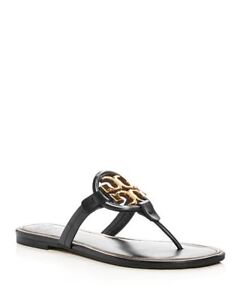 2911196e8dc5 NIB Tory Burch Women s Miller Leather Thong Sandals size 5-11 2 ...