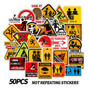 50Pcs-Warning-Sign-Stickers-For-Skateboard-Luggage-Laptop-Car-Decals-Cxz